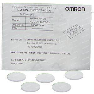 Omron Luchtfilter voor Aerosol Omron C28/C29 5 stuks