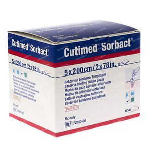 Cutimed Sorbact Gauze 5x200 10 pieces