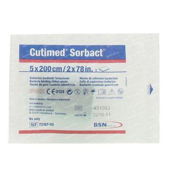 Cutimed Sorbact Gaze 5x200 1 st
