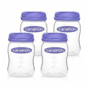 Lansinoh Bewaarflesjes voor Moedermelk 4 stuks