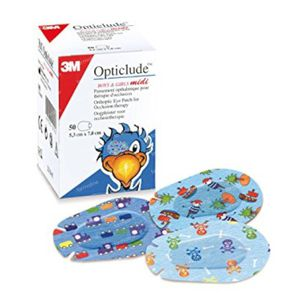 3M Opticlude Compresse Occulaire Boys & Girls Midi 5,3cm X 7cm 2538PE 30 pièces