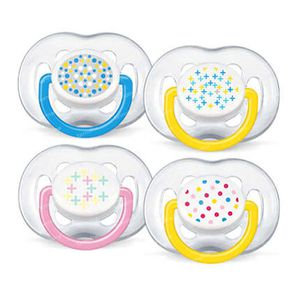 Avent Sucette Free Flow Tendence Silicone Double 6-18 Mois 2 pièces