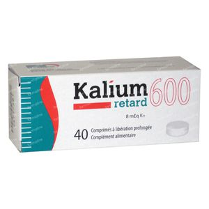 Kalium Retard 600mg 40 St compresse