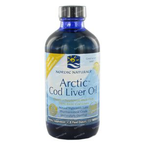 Nordic Arctic Cod Liver Oil Lemon 237 ml