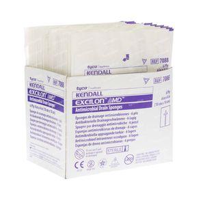 Kendall Excilon Antimicrobial Drain Sponges 10x10 cm 50 pieces