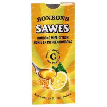 Sawes Bonbon Honing-Citroen Suikervrij 22 g