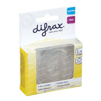Difrax Zuigfles S Ventiel 2 stuks