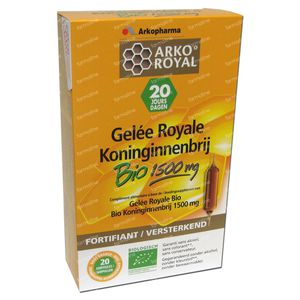 Arko Royal Koninginnebrij Bio 1500mg 20 x 15 ml ampoules