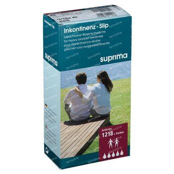 Bota Suprima 1218 Slip PVC Elastique Large Taille/Jambe Unisex Blanc T40 1 slips