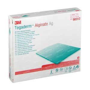 3M Tegaderm Alginate Ag - Alginaat Wondverband Met Zilver 10cm X 10cm 90312 10 stuks