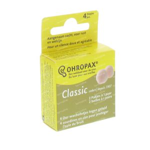 Ohropax Bouchons Oreilles Wax 2 pair