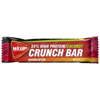 Wcup Crunch Bar High Protein 35 % Noix De Coco 45 g