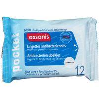 Assanis Pocket Lingettes 12 st