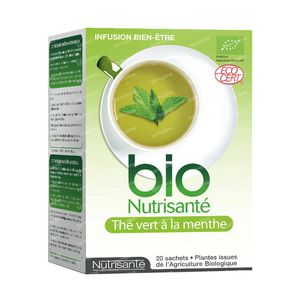 Infusion Bio Green Tea - Mint 20 St sachets