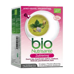 Nutrisanté Infusion Purifying Tea Bags 20 St sacchetti
