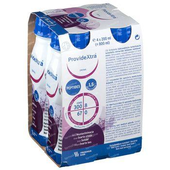 Provide Xtra Zwarte Bes 4x200 ml