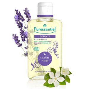 Puressentiel Bio Massage Öl Lavendel-Neroli 100 ml