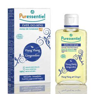Puressentiel Bio Huile Massage Ylang Ylang-Gingembre 100 ml