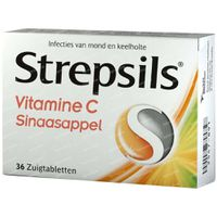 Strepsils Vit. C Sinaasappel 36 st