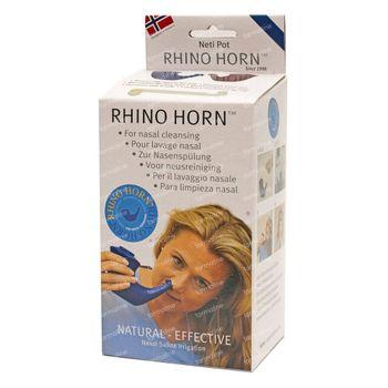 Rhino Horn Neusspoeler Blauw 1 stuk