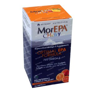 MorEPA Chewy Softgels Orange 60 pieces