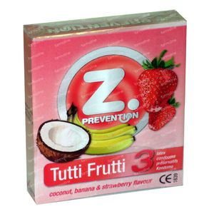 Z.Prevention Tutti Frutti Condoms 3 pieces