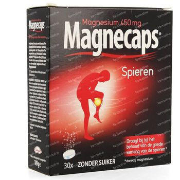 Magnecaps Muscles Magnésium 450mg 30 comprimés effervescents