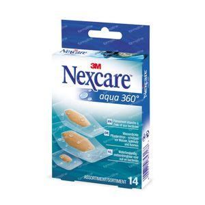 Nexcare 3M Patchs Aqua 360 Assorted 14 stuks
