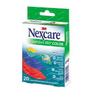 Nexcare 3M Comfort Strip 360 Brights 20 pieces