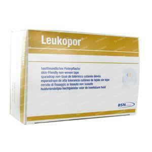 Leukopor rol A/Allergische Hechtpleister 2,5cm x 9,2m 12 stuks