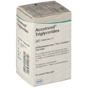 Bandelettes réactives Roche Accutrend Triglycerides 25 pièces