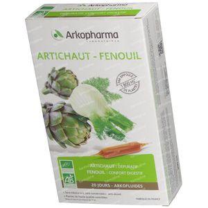 Arkofluide Artichoke Fennel 20 ampoules