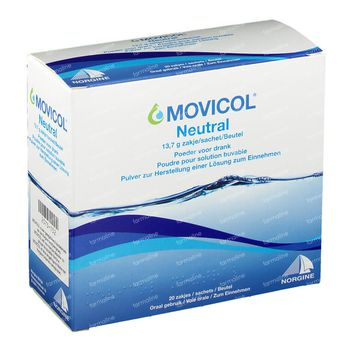 Movicol Goût Neutre 20x13,7 g sachets