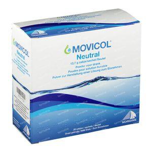 Movicol Neutrale smaak 20x13,7 g zakjes