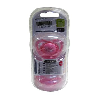 Nuby Sucette Ortho Silicone 6 Mois + 1 Boite 2 pièces