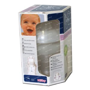Nuby Suction Bottle Silicone 150ml 0 Month + Teat Slowly 1 St