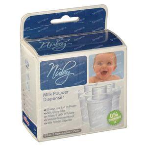 Nuby Milk Powderbox 3 pezzi