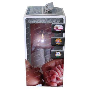 Nuby Suction Bottle Propyleen Pink 240ml + Teat 0 Month 1 St