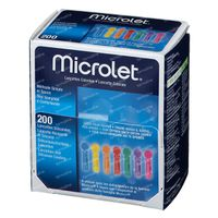 Microlet lancet gekleurd P6571 200 st