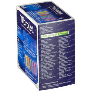 Bayer Microlet Lancetten Stérile Coloré 200 pièces