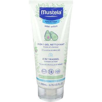 Mustela Bébé 2 en 1 Gel Nettoyant Corps et Cheveux 200 ml