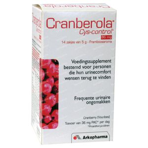 Cranberola Cys-Control 36mg 70 g bolsitas