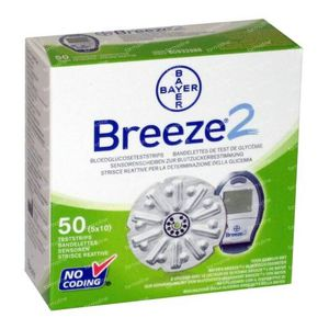 Bayer Breeze Glucosisteststrips 50 St