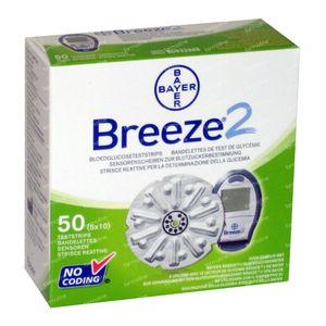 Bayer Breeze Glucosisteststrips 50 piezas