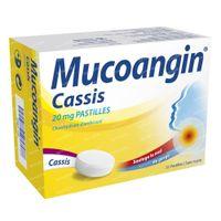Mucoangin Cassis 20mg - Voor Keelpijn 30  zuigtabletten