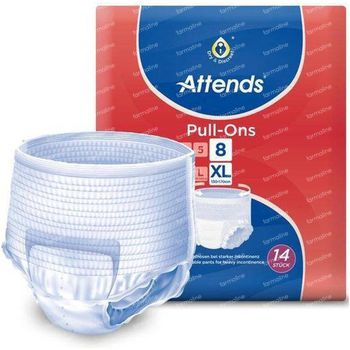 Attends Pull-Ons 8 Extra Large 14 slips