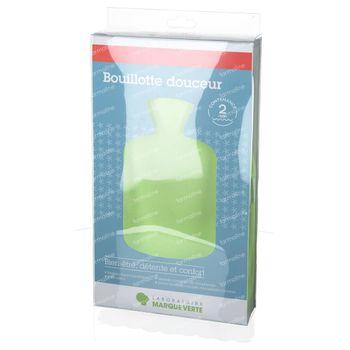 Marque V Thermoplastique Soft Bouillotte d'Eau Chaude Vert 2L 1 pièce