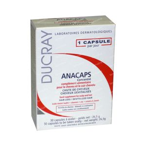 Ducray Anacaps Concentre Hair Loss 30 St cápsulas