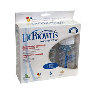 Dr Brown Suction Bottle Polypropyleen 240ml 3 pezzi