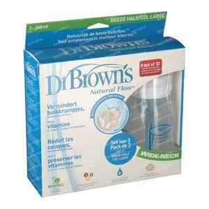 Dr Brown Suction Bottle Polypropyleen 240ml 3 pezzi